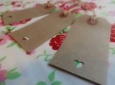 50 Brown Vintage   Rustic Luggage tags Wedding Wishing Tree Favour Place Card
