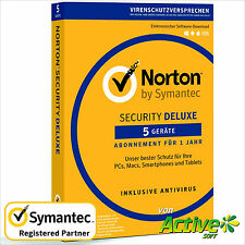 NORTON Security 2017 5 Geräte | PC ,Mac,Android,iOS| Internet Security DE-Lizenz