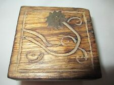 Handcarved Wooden Snuff box - Ks Collection 420