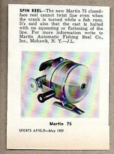 1959 Magazine Photo Martin 75 Spin Fishing Reels Mohawk,NY