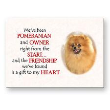 POMERANIAN Friendship FRIDGE MAGNET Steel Case