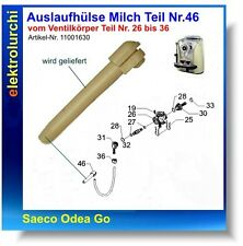 Auslaufhülse Milch, Schlauch Silikonschlauch Saeco Odea Go SUP031O, 11001630