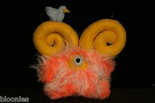 Cutesy but not Cutesy Small Orange Cute Monster Plush Toy Doll