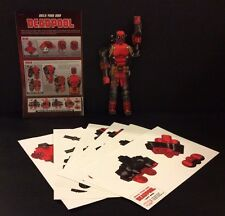 BUILD YOUR OWN DEADPOOL Model ALL 6 PARTS +Instructions Retailer Promo Exclusive
