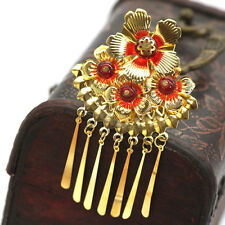 2PCS Chinese Classical Women Hairpin Hair Comb Alloy Bride Accessories Gold Colo