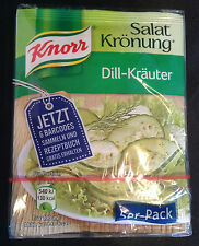 Knorr DILL Salad Herbs Mix Dressing from Germany 5 x 9g sachets FREE UK Post!