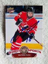 Colorado Avalanche Joey Hishon Signed 2010 Upper Deck World of Sports Card Auto