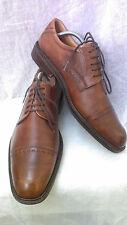 Ecco Men's Brown Leather Windsor Cap toe Lace up,EUC,sz. 43(9-9.5 US)