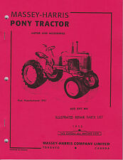Massey-Harris Pony Tractor Repair Parts List Illustrated MH 1952 Manual