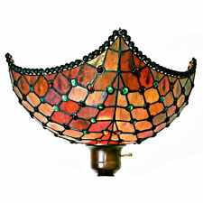 Tiffany Torchiere Floor Lamp Stained Glass Shade Style Beaded Patterns Room Dale