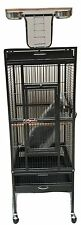 Deluxe Medium Parrot Cage Aviary Parrot  Black ONLY conure cockatiel quaker