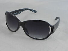 Kenneth Cole Reaction Unisex Black Vented Gunmetal Hinge Sunglasses KC1170 01B