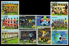 PARAGUAY 1982-World Cup Football-Sports-Set of 10-Used Stamps
