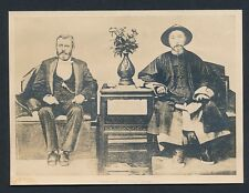 1879 Ulysses S. Grant and Li Hung Chang, CHINESE and US PRESIDENTS Vintage Photo