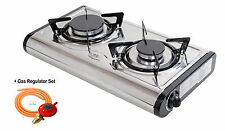NEW MINI-S Gas Stove 2burner Portable Camp Indoor Caravan LPG/propane /NG 4.6kW