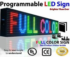 Open Close LED SIGN 6INCH HIGH AND 2 FEET LONG PROGRAMMABLE FULL COLOR DISPLAY