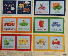 Educational vehicle fabric book children's illustrated panels fire engine school
