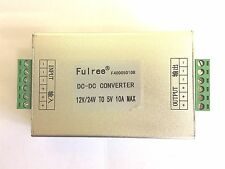 FULREE 10A 50W DC-DC STEP DOWN BUCK CONVERTER 12V 24V TO 5V CAR POWER ADAPTER