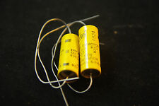Two Vintage NOS NIB Aerovox PRS-1300, 2 uF 50 Vdc Electrolytic Filter Capacitors