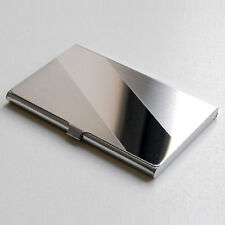 Steel Silver Aluminium Business ID Credit Card Holder Case Cover Bevel Box