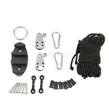 Kayak Canoe Boat Anchor Trolley Kit System Well Nuts Pulley Rope Accessories