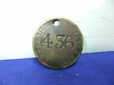 vtg badge fob ripley and sons 436 bowling dye works staff id est early 1800s