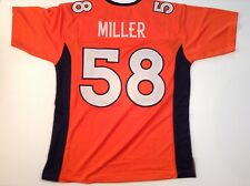 Denver Broncos Von Miller UNSIGNED CUSTOM Orange Jersey - XL