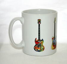 Guitar Mug. 5 Psychedelic Guitars