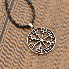 Vintage Viking Compass Pendant Necklace Pirate Retro Mens Fashion Jewellery Gift