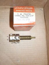 NOS 1951-52 PACKARD VOLUME ON/OFF TONE RADIO CONTROL SWITCH 7264720 GM DELCO