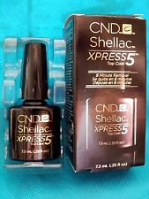 New! .25oz CND Shellac XPRESS 5 Top Coat Clear LED Gel Nail Polish 5 Min Removal