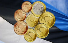 Full set of  ESTONIA ESTLAND ESTONIE Euro coins 2011