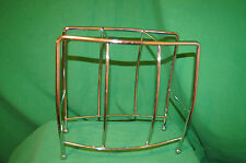 Mid Century Magazine chrome Rack news Paper Holder Salterini Woodard Eames Era
