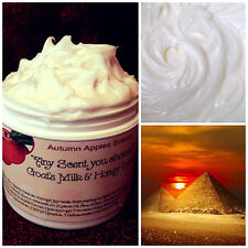 EGYPTIAN AMBER -  GOAT MILK, SHEA BUTTER & HONEY BODY CREAM, LOTION w/Jojoba