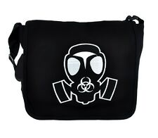 Gas Mask Cyber Goth Industrial School Messenger Bag Walking Dead Evil Sling Bag