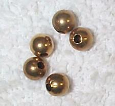 VINTAGE HIGH QUALITY LARGE HOLE BRASS JEWELRY BEADS    24  BEADS