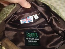 Derby Tweed Cap 50% wool Xl Nwt