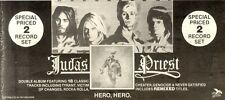 12/12/1981Pg20 Double Album Advert 4x10 Judas Priest, Hero Hero