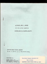1942 Forum Films Screen Play- A Violin Music Lesson (sent to Paul Fowler)