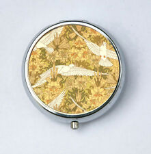 Art Nouveau Doves and Lilies Pill case pillbox pill holder design Pattern