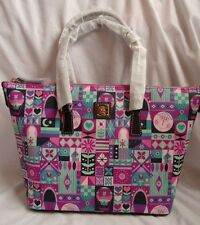 Disney It's A Small World Clock Face Dooney & Bourke Shopper Tote Purse Bag 2