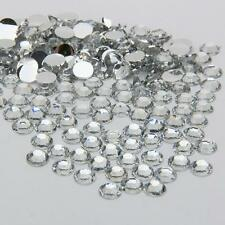 2000Pcs/Pack Crystal Flat Back Resin Rhinestones Gems White, 3mm