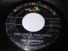 The Sapphires: Our Love Is Everywhere / Thank You For Loving Me 45 - Soul