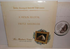 CSLP 506 A Violin Recital By Fritz Kreisler Massenet Meditation etc.