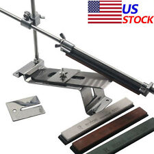 Professional Knife Sharpener Kitchen Sharpening System Fix Angle with 4 Stones W