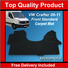 VW CRAFTER 2006-2011 CARPET MATS QUALITY BLACK TAILORED FRONT MAT QUALITY TOUGH