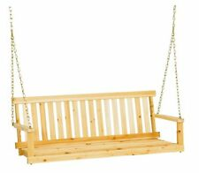 Jack Post Jennings Traditional 4-Foot Swing Seat in Unfinished Solid Fir with Ha