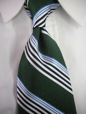New! BROOKS BROTHERS Green Sidewheeler Music Stripe Silk Tie  ~  $79.50 ~ NWOT