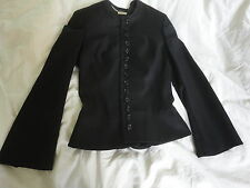 ALEXANDER MCQUEEN BLACK TAILORED FITTED WOOL JACKET IT38  XS NWOT!!