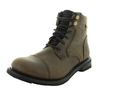 Caterpillar NEW Mens Bitter Chocolate Leather Newfound Combat Dress Boots (8)